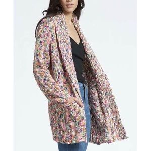 NWT Press Cardigan Sweater Chunky Open Front Shawl